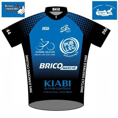 Découvrez le maillot officiel du Pays d'Ancenis cyclisme44